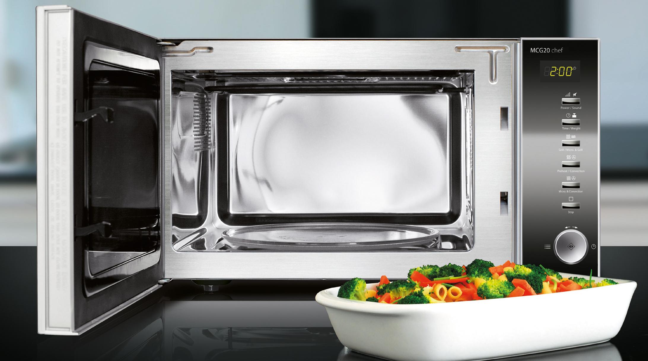 mikrowelle hei luft grill caso mcg 20 chef caso design onlineshop. Black Bedroom Furniture Sets. Home Design Ideas