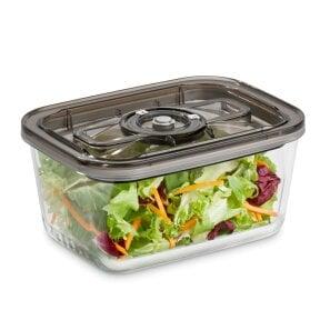 CASO VacuBoxx Eco-Set Stapelbares Vakuumbehälter-Set aus Glas mit Kunststoffdeckel