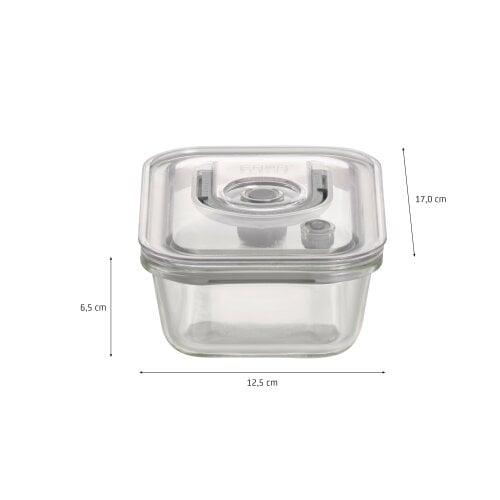CASO VacuBoxx Set eckig - 4er Set Design Vakuumbehälter aus Glas mit Tritan Deckel
