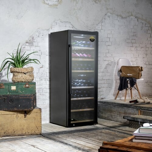CASO WineExclusive 126 Smart Design Weinkühlschrank für bis zu 126 Flaschen