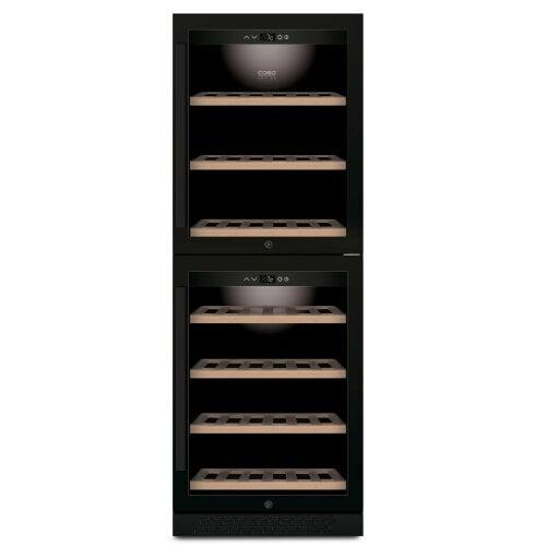 CASO WineChef Pro 126-2D black Hochwertiger Weinkühlschrank mit Kompressortechnik