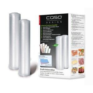 CASO Folienrollen 25x600 cm, 2 Stück Folienrollen