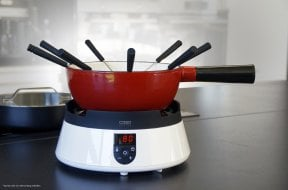 FonDue Set (white) Induction - For 8 people - Save and clean