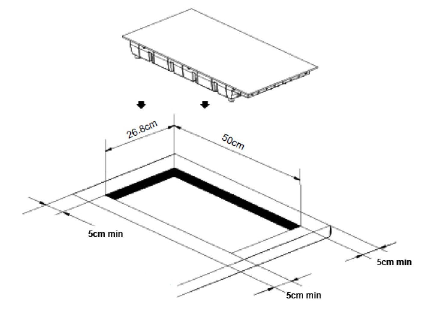 Einbau Induktionskochfeld Mit 2 Kochzonen Caso Master E2 Einbau