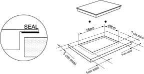 CASO Master E4 Slide Einbau Einbau-Induktionskochfeld mit 4 Kochzonen