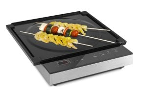 CASO S-Line 2100 Induktion + Table Grill-Set with Teppanyaki-barbecue plate