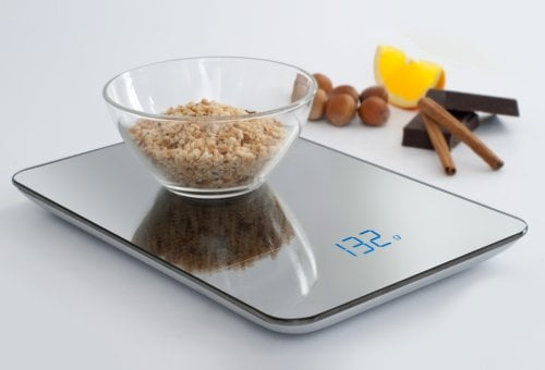 CASO F 10 Design kitchen scale - large, mirrored surface