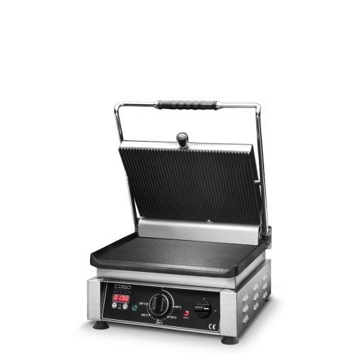 CASO Profi Gourmet Grill gerillt/glatt Doppel-Kontakt-Grill inkl. digitaler Timer