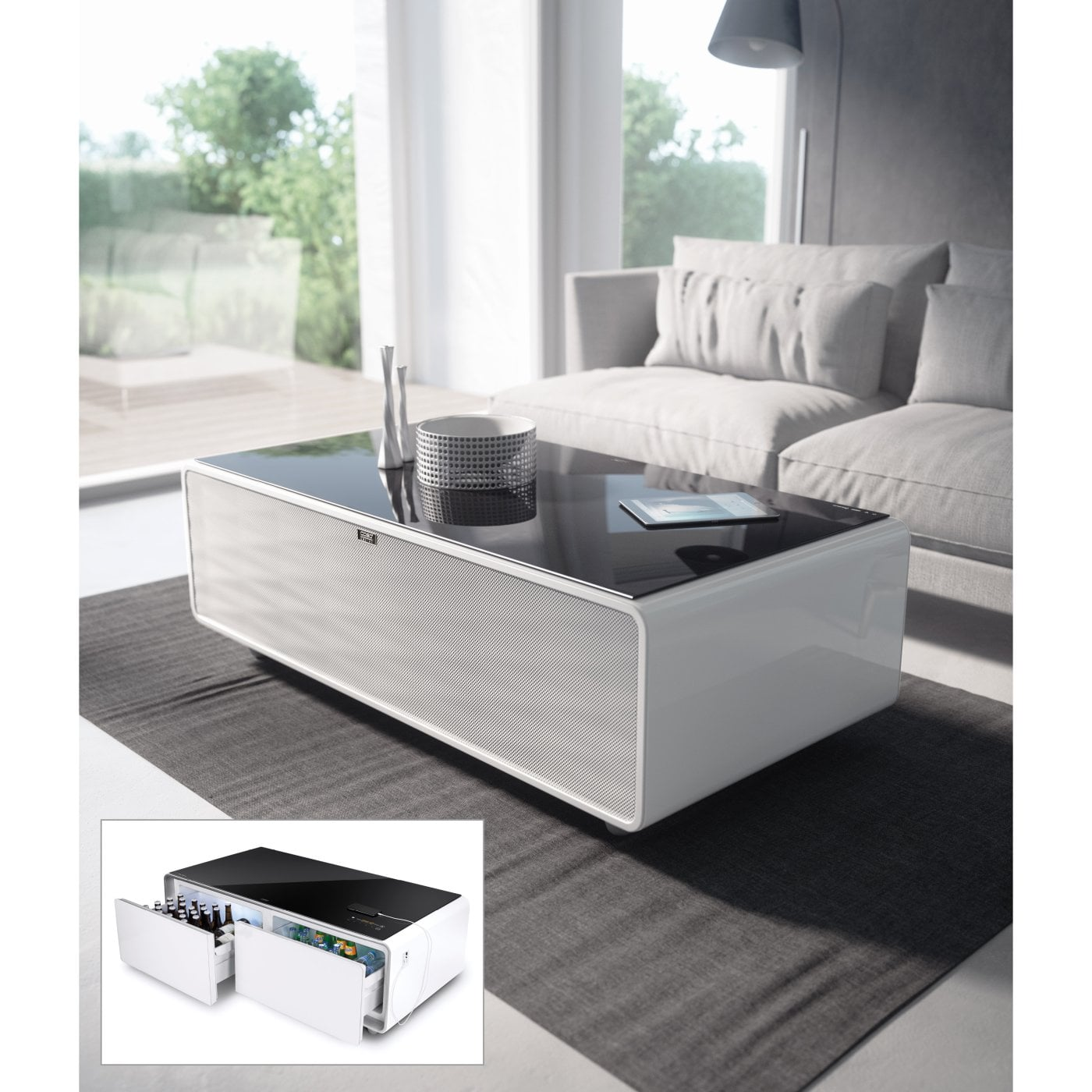 Marvelous Combination Of Soundbar Beverage Cooler Und Lounge Table Inzonedesignstudio Interior Chair Design Inzonedesignstudiocom