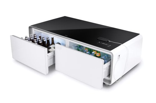 Sound & Cool Combination of soundbar, beverage cooler und lounge-table