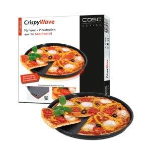 CASO CrispyWave - Mikrowellen Pizzablech aktives Pizzablech für Mikrowellen & Heißluft -Kombinations-Geräte