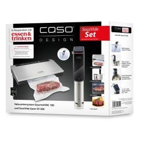 CASO Sous Vide Set Essen & Trinken Vakuumiersystem GourmetVAC 180 & Sous Vide Garer SV 300