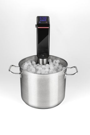 SousVide Set - Thermoisolating floating balls - container