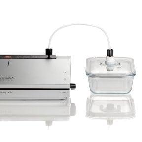CASO Vakuumpumpe und Adapter Zubehör-Set für CASO Vakuum-Frischebehälter