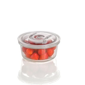 CASO vacuum freshness container round - 620 ml High quality glass design vacuum containers with tritan lid