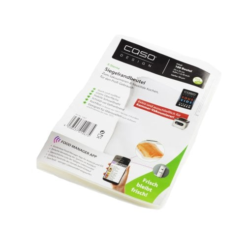 CASO seal bag 25 x 35 cm (100 Stck) Sealed edge bags - Extra and only suitable for chamber vacuumisers (VacuChef 70, VacuChef 77 and VacuChef SlimLine)
