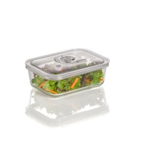 CASO vacuum freshness container square - 1000 ml High quality glass design vacuum containers with tritan lid