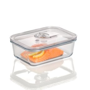 CASO vacuum freshness container square - 1500 ml High quality glass design vacuum containers with tritan lid