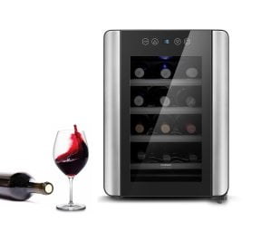 CASO WineCase Red 12 Design wine cooler - especially for redwine