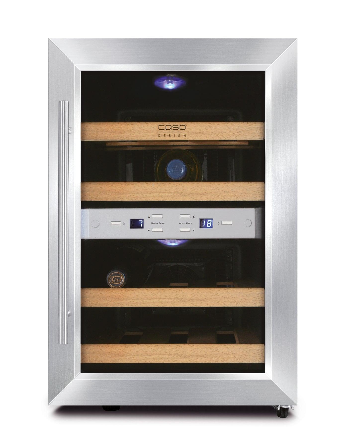 Hochwertiger Weinkühlschrank CASO WineDuett 12 | CASO Design ...