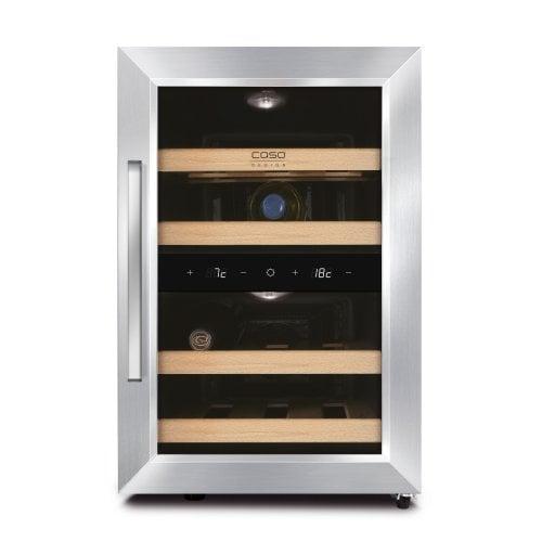 CASO WineDuett 120 Design Weinkühlschrank mit zwei Temperaturzonen & Peltiertechnik