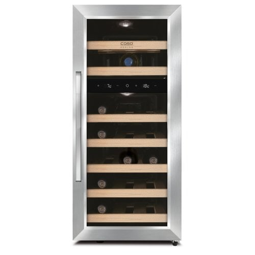 CASO WineDuett 210 Design wine cooler with two temperature zones & peltier technology
