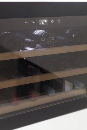 CASO WineSafe 18 EB Black Hochwertiger Weinkühlschrank - Einbau