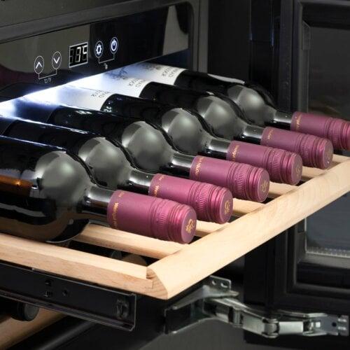CASO WineDeluxe E 18 Einbau Weintemperierer mit Kompressortechnik - Einbaugerät 45er Nischenmaß