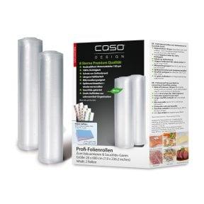 CASO Folienrollen 20x600 cm, 2 Stück Folienrollen
