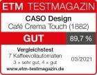 CASO Café Crema Touch 1882 Testlogo