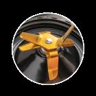 Robustes 6-fach Messer mit goldener Titanbeschichtung