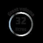 32 liters volume