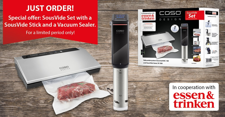 CASO SousVide-Set - Set vacuum system & SousVide cooker