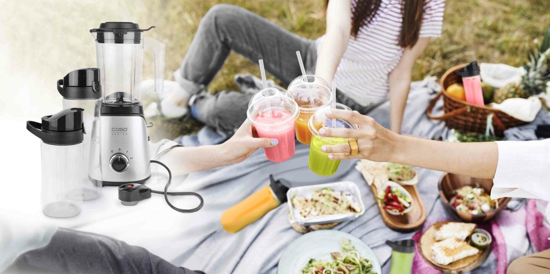 Ab in die Natur - das nächste Picknick mit Freunden wartet - Frische Drinks-to-go & selfmade Dips