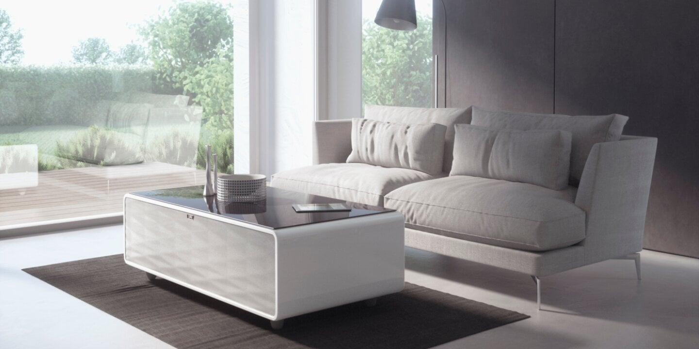 The CASO Design Sound & Cool lounge table - Lone table with integrated speakers and cooling zones for cold drinks