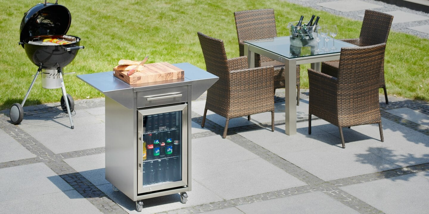 Hot grill - cool drinks - Get notified as soon as the CASO Barbecue Cooler is available again