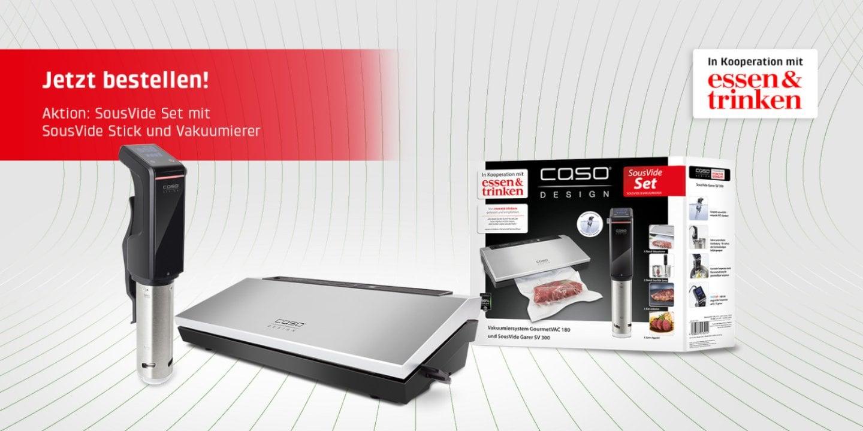 CASO SousVide-Set Essen & Trinken - Vakuumiersystem GourmetVAC 180 & SousVide Garer SV300