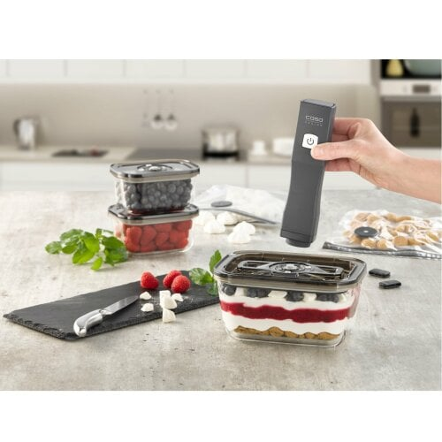 CASO Vacu OneTouch Eco-Set Hand-held vacuum sealer incl. accessories