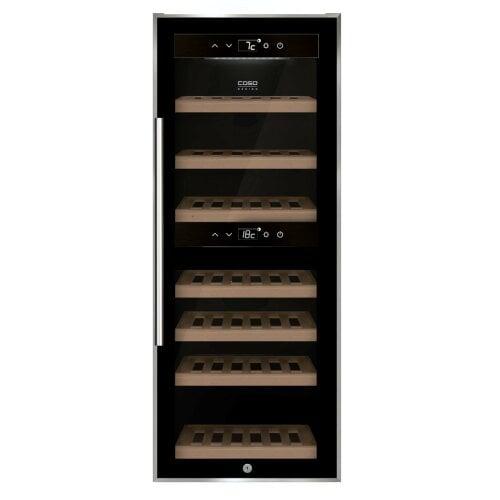 CASO WineComfort 38 black Design Weintemperierer mit Kompressortechnik & Zwei Temperaturzonen