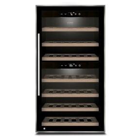 CASO WineComfort 66 black Design Weintemperierer mit Kompressortechnik & zwei Temperaturzonen