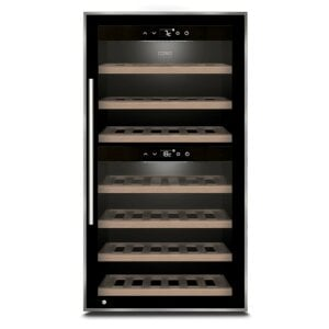 CASO WineComfort 66 black Design wine temperer with compressor technology & two temperature zones